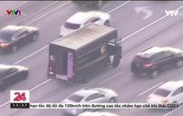 Ly kỳ cuộc rượt đuổi xe tải bắt cóc con tin của Cảnh sát Mỹ