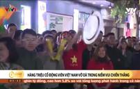 Không khí phố đi bộ Hồ Gươm sau chiến thắng của U22 Việt Nam
