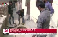 Nguy hiểm rình rập nghề dọn ống cống ở Ấn Độ