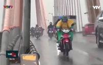 Qua cầu Rạch Miễu mùa mưa cần cảnh giác với giông lốc