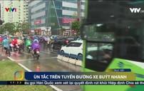 Ùn tắc giao thông giờ cao điểm trên tuyến đường Lê Văn Lương, Hà Nội