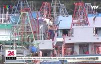 Hàng ngàn tàu cá nằm bờ ở Kiên Giang