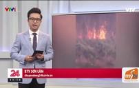 Cháy rừng nghiêm trọng tại Kiên Giang