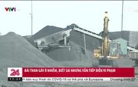 Bãi than gây ô nhiễm ngang nhiên hoạt động ở Hải Dương
