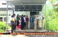 Hỗ trợ bồn trữ nước giúp người dân ứng phó hạn mặn