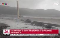 Bão Surigae gây sóng khổng lồ tại Philippines