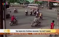 Clip: Ô tô gây tai nạn thương tâm do phóng nhanh tại nút giao