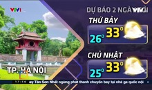 Bản tin thời tiết 18h - 20/9/2019