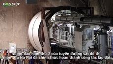"""Cận cảnh robot đào ngầm """"Táo bạo"""" chạy thử tại Đường sắt Nhổn - Ga Hà Nội"""