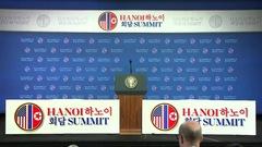 Video Họp báo của Tổng thống Donald Trump sau Hội nghị thượng đỉnh Mỹ - Triều lần 2