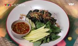 Góc bếp quê nhà: Lươn chiên lá lốt
