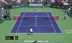 Vòng 4 Indian Wells 2018: Hyeon Chung 2-0 Pablo Cuevas (6/1, 6/3)