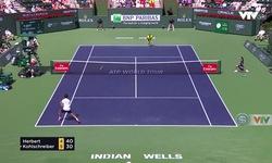 Vòng 4 Indian Wells 2018: Pierre-Hugues Hebert 0-2 Philipp Kohlschreiber (4/6, 6/7)