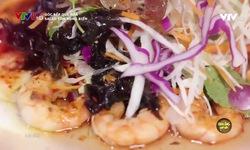 Góc bếp quê nhà: Salad tôm rong biển