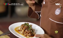 Góc bếp quê nhà: Bò cuộn nấm kim châm