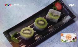 Bếp nhà: Rau câu kiwi hạt chia