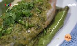 Bếp nhà: Cá diêu hồng hấp ớt xanh