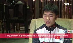 Xuân Trường trả lời phỏng vấn trước trận gặp U23 Qatar