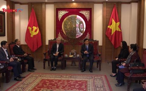 Bộ trưởng Nguyễn Ngọc Thiện tiếp Chủ tịch Ủy ban Đoàn kết Công giáo Việt Nam