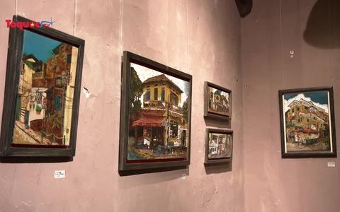 Phố phường Hà Nội qua tranh nghệ sĩ Nhật Bản