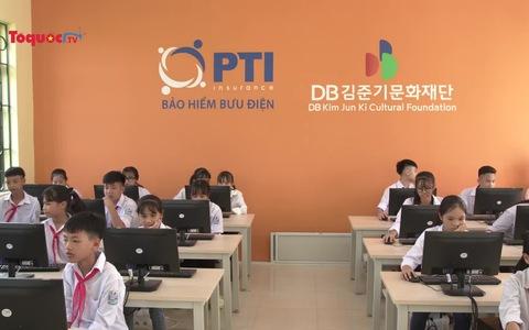 PTI trao tặng phòng học máy tính tại trường THCS Trung Hòa - Hưng Yên