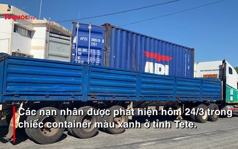 Phát hiện 64 thi thể trong xe container di chuyển tới Mozambique