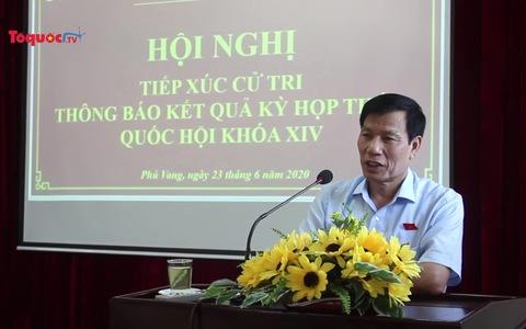 Bộ trưởng Nguyễn Ngọc Thiện tiếp xúc với cử tri huyện Phú Vang, Thừa Thiên Huế