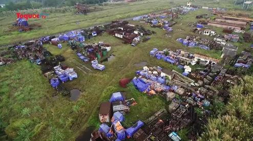 Cảnh hoang tàn, lãng phí của dự án Nhà máy Gang thép Thái Nguyên nhìn từ Flycam