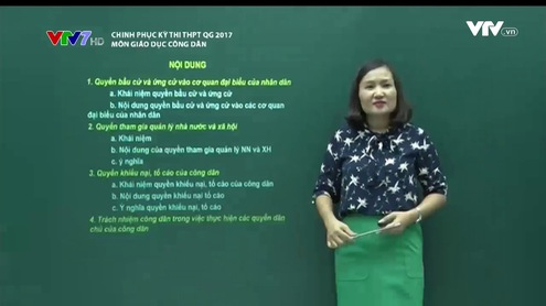 Chinh phục kỳ thi THPT QG - 19/6/2017