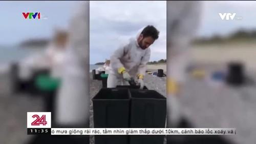 Xác cá nhà táng chứa đầy rác thải nhựa dạt vào bờ biển Italy