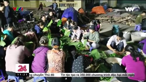 Hàng nghìn chiếc bánh chưng được gửi ủng hộ miền Trung