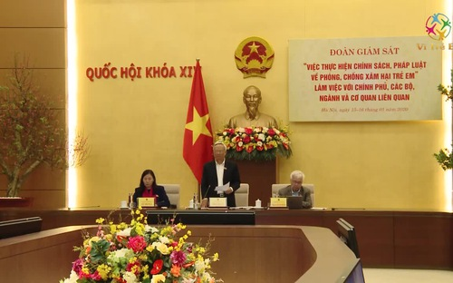 Đoàn giám sát của Quốc hội làm việc với các Bộ, Ngành về công tác phòng, chống xâm hại trẻ em
