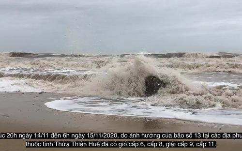 Video bão số 13 gây nhiều thiệt hại tại tỉnh Thừa Thiên Huế