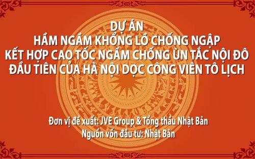 Đề xuất dự án đường hầm cao tốc kết hợp chống ngập dọc sông Tô Lịch