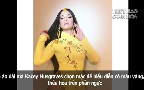 Mặc áo dài Việt theo cách chẳng giống ai, Kacey Musgraves khiến fan tranh cãi gay gắt