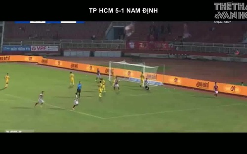 VIDEO: Highlights TP HCM 5-1 Nam Định, V League 2020 vòng 12