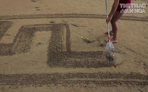 Những bức tranh trên cát khổng lồ của nghệ sĩ Croatia