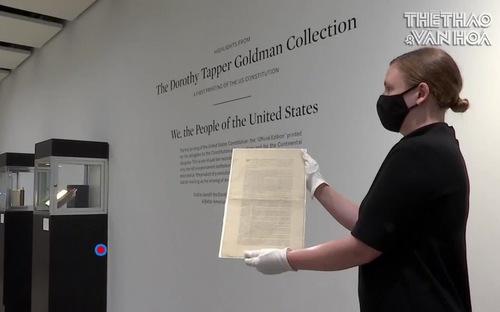Đấu giá bản in đầu tiên của Hiến pháp Mỹ