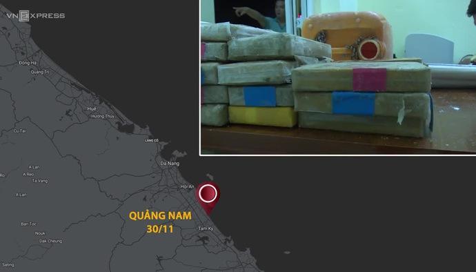Ma túy liên tiếp dạt vào bờ biển miền Trung