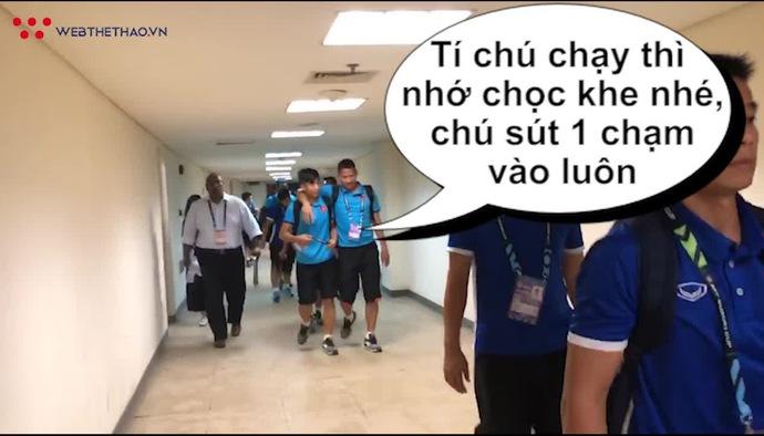 """Anh Đức và Phan Văn Đức lên kế hoạch """"xé lưới"""" ĐT Malaysia... trong đường hầm trước trận đấu?"""