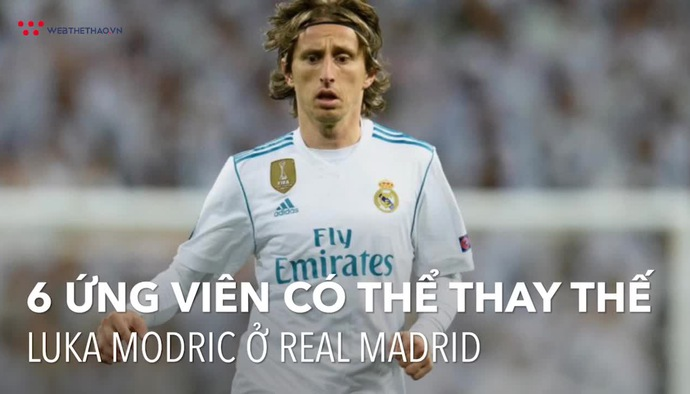 6 cầu thủ có thể thay thế Luka Modric ở Real Madrid