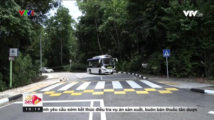 Cận cảnh xe bus không người lái của Singapore