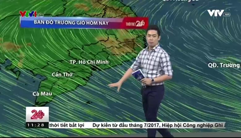 Bản tin thời tiết 11h30 - 29/3/2017