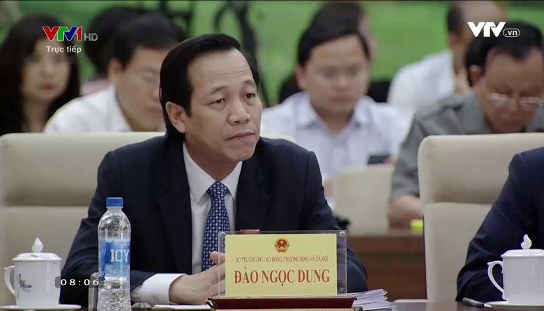 Bộ trưởng Bộ Lao động Thương binh và Xã hội trả lời chất vấn của UBTV Quốc hội (Phần 1 - Ngày 18/4/2017)