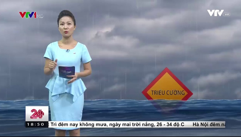 Bản tin thời tiết 18h45 - 18/9/2017