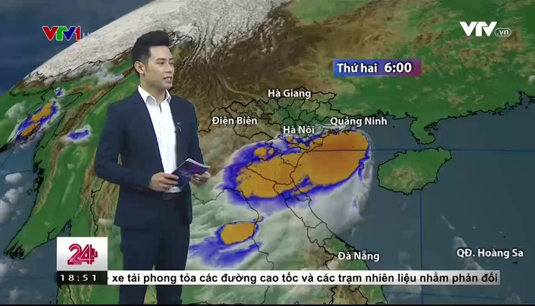 Bản tin thời tiết 18h45 - 25/9/2017