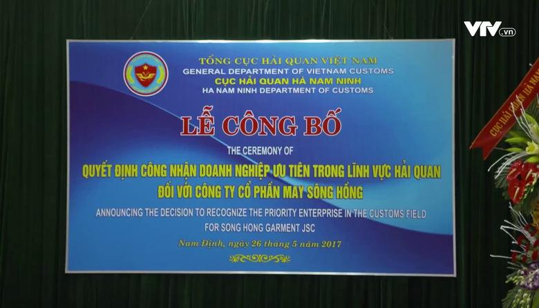 May Sông Hồng được công nhận là DN ưu tiên trong lĩnh vực hải quan