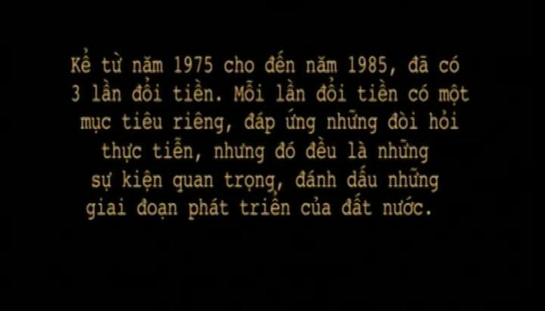 Ký ức Việt Nam: Cải cách tiền tệ