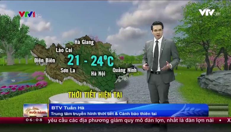 Bản tin thời tiết 6h10 - 30/4/2017