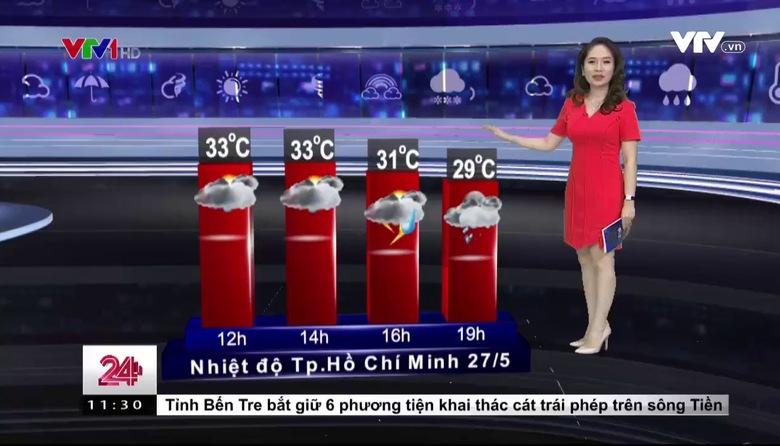 Bản tin thời tiết 11h30 - 27/5/2017
